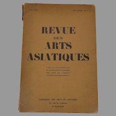 Revue des Arts Asiatiques Librairie des Arts et Voyages Juin 1925