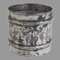 Silver Plate Napkin Ring Leaf Motif c 1890