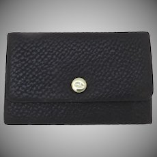 Small Leather 1900's Stick Pin Cuff Link Box Case Snap Closure