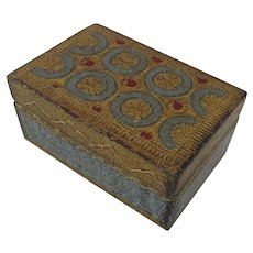Vintage Italian Italy Florentine Box Gilt & Painted