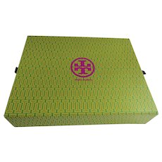 """Vintage  Large Tory Burch Empty Storage Gift Box  14 1/4"""" by 10 1/2"""""""