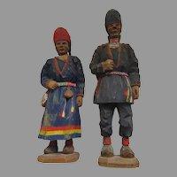 Torgorg Lindberg-Karlsson Carlsson 1908-1980 Carved  Sami Carvings Signed Swedish Folk Art