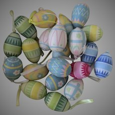 21 Paper Vintage Easter Egg Ornaments