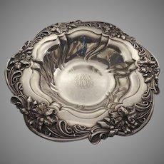 Art Nouveau Large Sterling Silver Bowl
