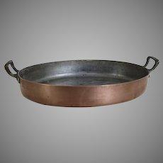 Vintage Ouvres-Vesoul Art et Cuisine Copper Pan Made in France Au Gratin