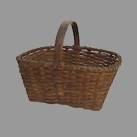 Large 1900's American Market Basket Storage