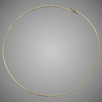Classic 12K Gold Filled Choker Necklace