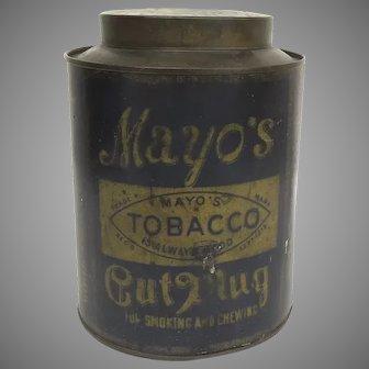 "MAYO'S Cut Plug Tobacco Tin Canister ""Oatmeal"""