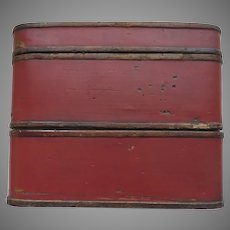 Vintage Chinese Three Part Lunch Box