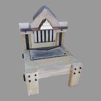 Artist Made Small Miniature Chair by Jane Mathews Denver