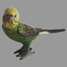 Vintage Cold Painted PARAKEET Bird Vienna Bronze