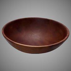 Vintage Maple Bowl Large Turned