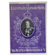 "The Illustrated London News Special Double Number ""The Death of King George V."" January 1936"