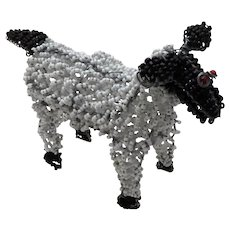 Vintage Beaded Wire Sheep Handmade Africa