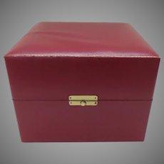 Large Vintage Steuben Crystal Red Presentation Box