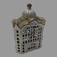 Vintage Cast Iron Still Coin Bank