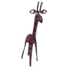 Soda Can Wired Giraffe Handmade Africa
