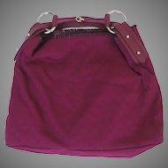 Vintage Deep Pink Red GUCCI Large Horse-Bit Hobo Handbag