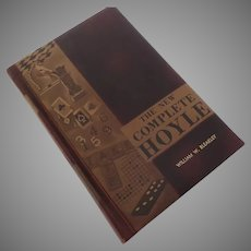 "Vintage ""The New Complete Hoyle"" Leather Covered Book"