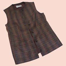Vintage JAEGER Wool Plaid Vest