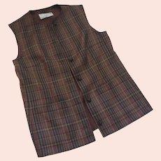 Vintage JAEGER Wool Plaid Vest