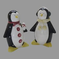 Vintage Ceramic Penguin Salt and Pepper Shakers