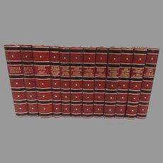 Vintage Set of 12 Books 1930's Gyldendal Norsk Forlag Oslo