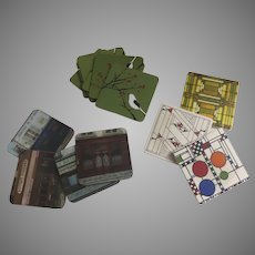 Group of 14 Coasters Frank Lloyd Wright Pimpernel French Restaurants Rock Flower Paper Birds