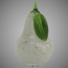 Large Vintage Glass Controlled Bubble Pear