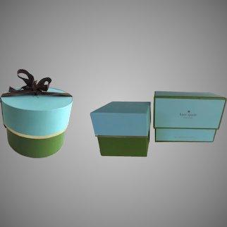 Two Vintage Kate Spade Storage Gift Boxes Empty
