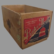 Vintage Apple Crate Box Pride of the North Rustic