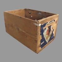 Vintage Apple Crate Box Wenoka Apples Standard Fruits Inc. Fruit Growers Rustic