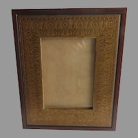 Vintage Martin Aborn Picture Frame Flat Gold Incised