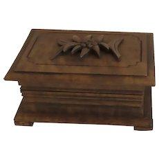 Vintage Wooden Swiss Box Edelweiss