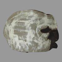 Adorable Vintage '93 Signed Lamp Sheep Bowl Vase Jardinière Pottery Glazed