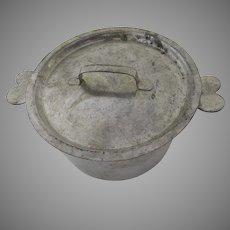 Vintage Bon Gourmet Pan Pot with Lid Heart Handles
