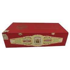 Very Large Vintage Empty Wood Gran Habano Corojo #5 Cigar Box Red Storage Front Clips