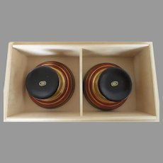 Vintage Japanese Sake Cups Lacquer in Box