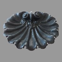 1870's Cast Iron Shell Shaped Drip Pan