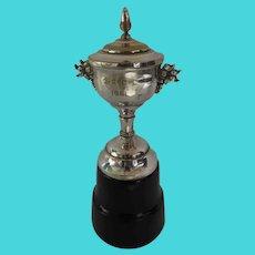 Vintage Silver Plate Wooden Base 1961 Trophy