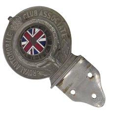Royal Automobile Club Car Badge Union Jack c 1926 Mounting Bracket