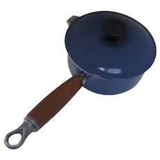 Vintage Blue Le Creuset Sauce Pan #14 with Spout