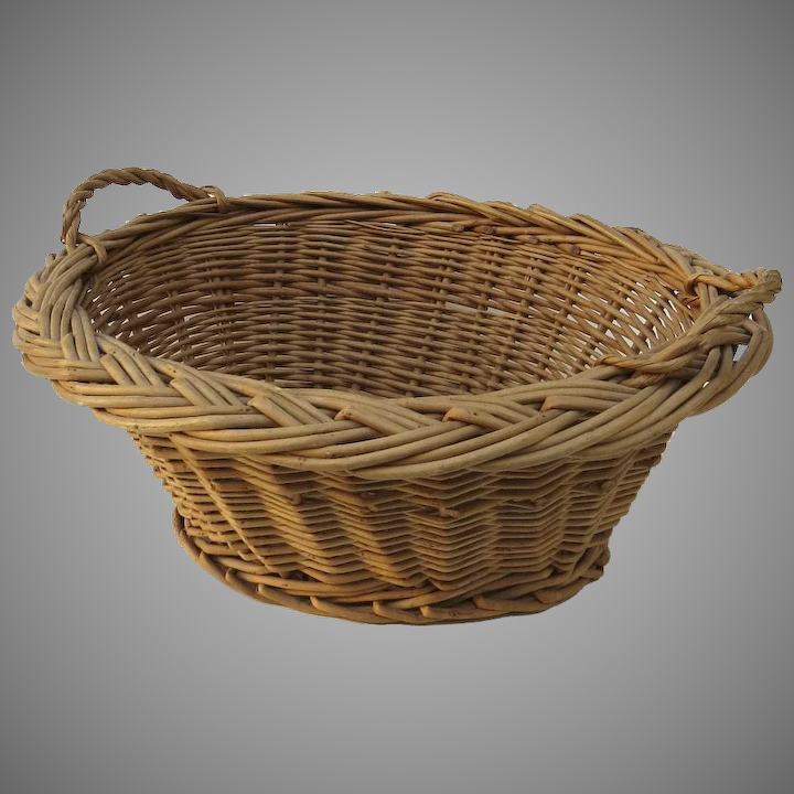 Vintage Child S Toy Small Wicker Laundry Basket Country