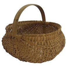 Old American Split Half Mellon Gathering Buttocks Basket