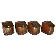 Set of Four Tin Lithograph Vintage Canisters