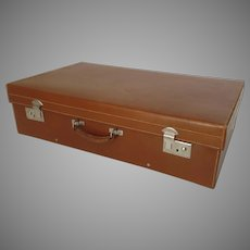 Vintage Finnigans of Bond Street Leather Luggage Suitcase Made for Austin Reed Early 1900's