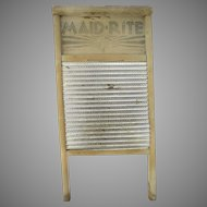 Vintage Maid-Rite Washboard No. 2222