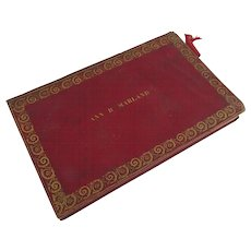 19th Century Leather Gilt Tooled Red Journal Diary G. Champley New York