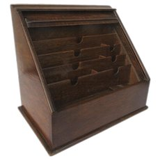 English Table Top Stationery Writing Desk Box Letter Tambour