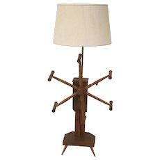 Pennsylvania Yarn Winder Now as a Floor Lamp Country